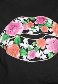 Simply Be - FLORAL LIPS SLOGAN - Print T-shirt - black - 4