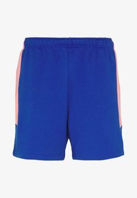 The North Face - EXTREME BLOCK SHORT - Tracksuit bottoms - blue/miami pink - 0