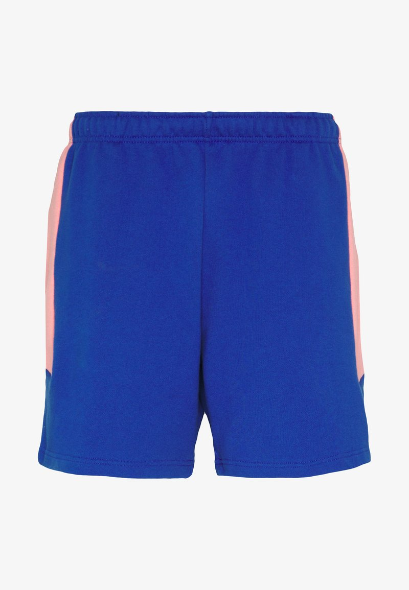 The North Face - EXTREME BLOCK SHORT - Tracksuit bottoms - blue/miami pink