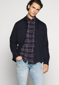Jack & Jones - JJPLAIN CHECK - Skjorta - navy blazer - 4