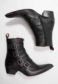 Jeffery West - VEGAN SYLVIAN B - Cowboy/biker ankle boot - black - 1