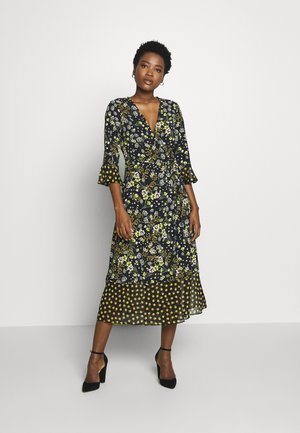 MIX AND MATCH FLORAL DRESS - Day dress - black