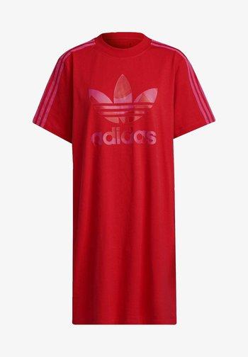 Vestido camisero - vivid red