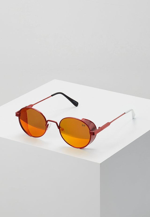 Sunglasses - fierry red metal/real red revo polarized