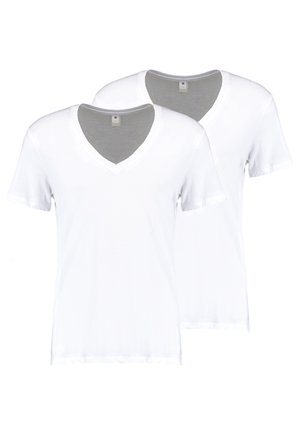 BASE HEATHER 2-PACK - T-shirt basique - white solid
