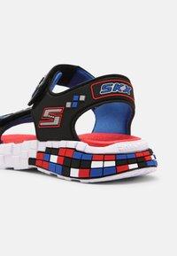 Skechers - MEGA-CRAFT - Sandals - black/silver/blue/red - 6