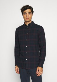 Selected Homme - SLHSLIMFLANNEL SHIRT - Shirt - dark sapphire/port royale - 0