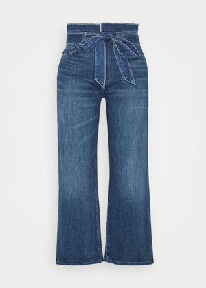 CROP ALEXA PAPERBAG  - Jean bootcut - dark blue