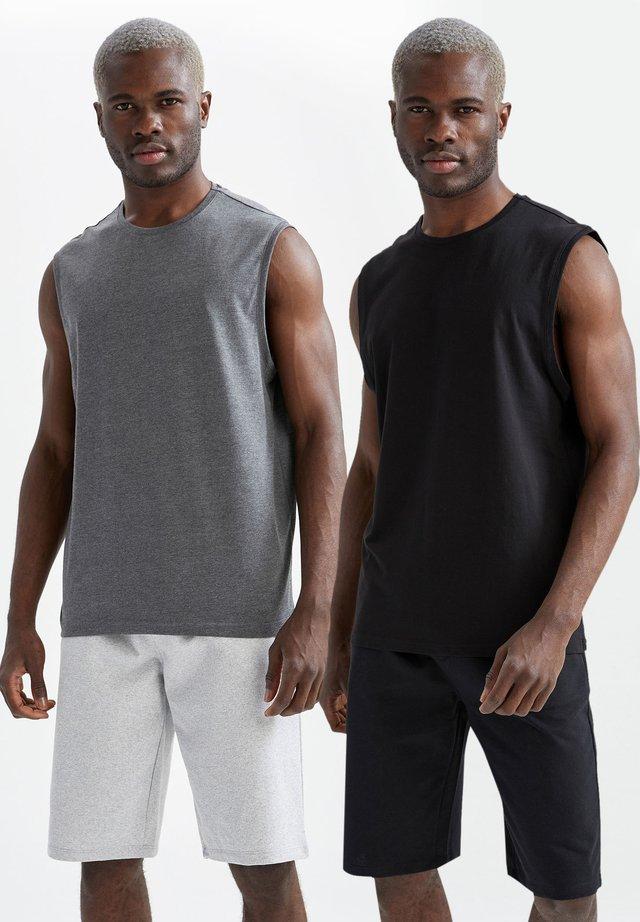 2 PACK  - Top - grey/black