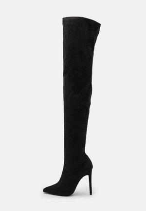 STILLETO BOOTS - Overknee laarzen - black