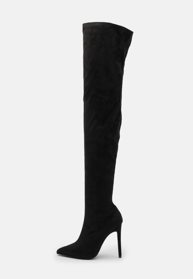STILLETO BOOTS - Over-the-knee boots - black