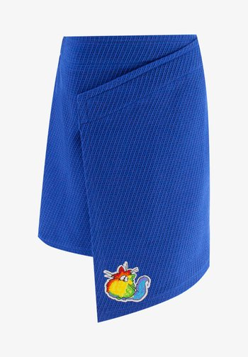 WITH CAT - Wrap skirt - blue