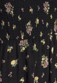 New Look - DOBBY PUFF SHIRRED MIDI - Maxi dress - black - 5