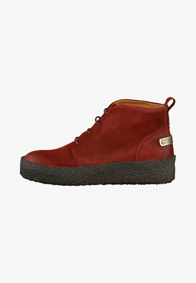 Bottines à lacets - red