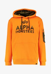 Alpha Industries - FOAM PRINT - Hoodie - alpha orange - 5