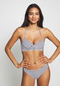 ONLY - ONLJULIE BRAZILIAN SET - Bikini - peacoat/blue/bright white - 0
