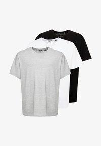 Only & Sons - ONSMATT LONGY TEE 3-PACK - Basic T-shirt - white/black/light grey melange - 4