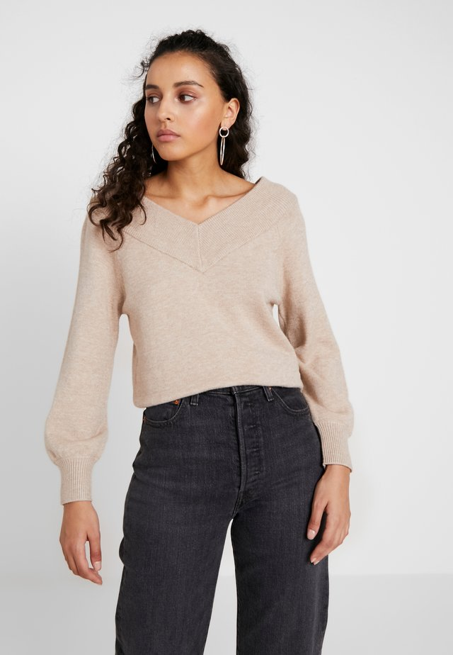 JDYSHANON - Sweter - beige/melange
