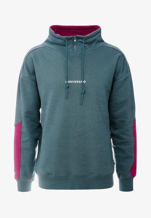 FUNNEL NECK WORDMARK  - Sweatshirt - faded spruce