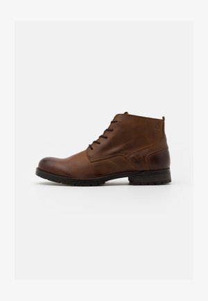 JFWORCA  - Lace-up ankle boots - cognac