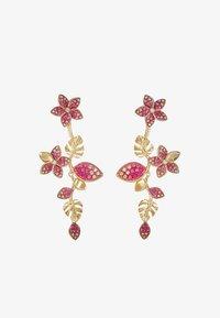 Swarovski - TROPICAL LONG FLOWER - Earrings - gold-coloured - 3