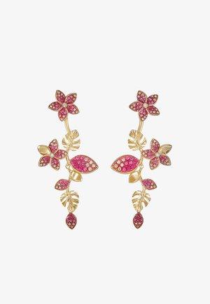 TROPICAL LONG FLOWER - Earrings - gold-coloured