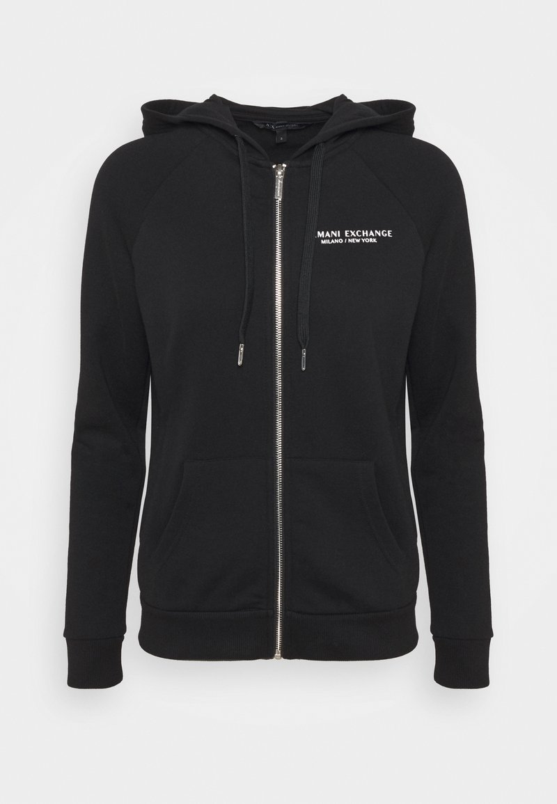 Armani Exchange - FELPA - Zip-up hoodie - black