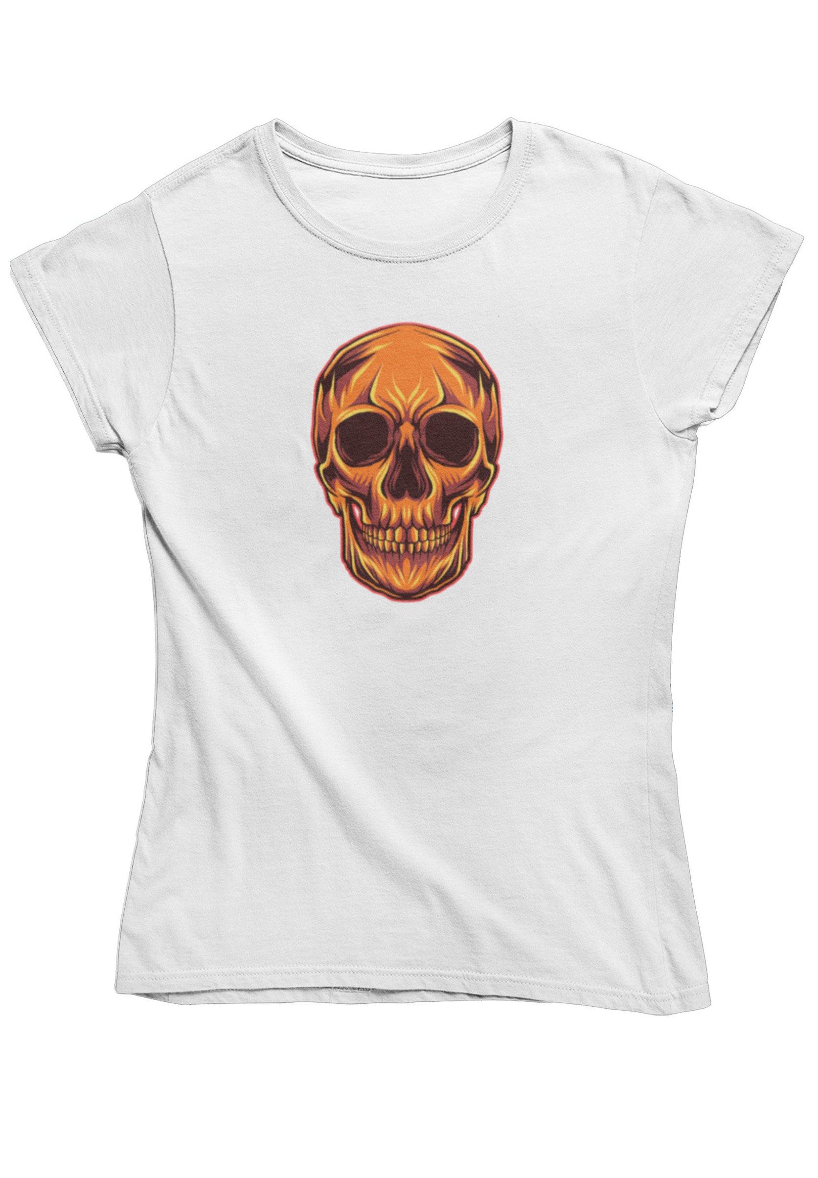 Damen BURNING SKULL - T-Shirt print