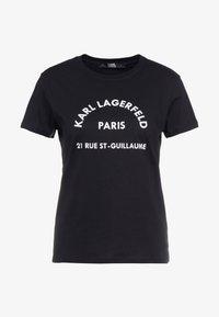 KARL LAGERFELD - ADDRESS  - Camiseta estampada - black - 3