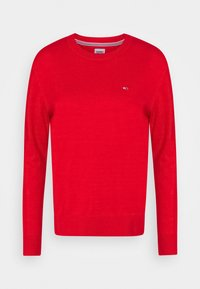 Tommy Jeans - SOFT TOUCH CREW SWEATER - Sweter - deep crimson - 4