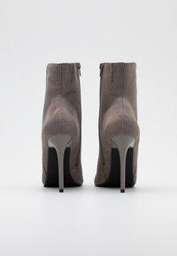Even&Odd - Kotníková obuv na vysokém podpatku - grey - 3