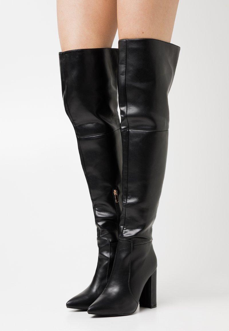 RAID - GRESHA - Kozačky na vysokém podpatku - black
