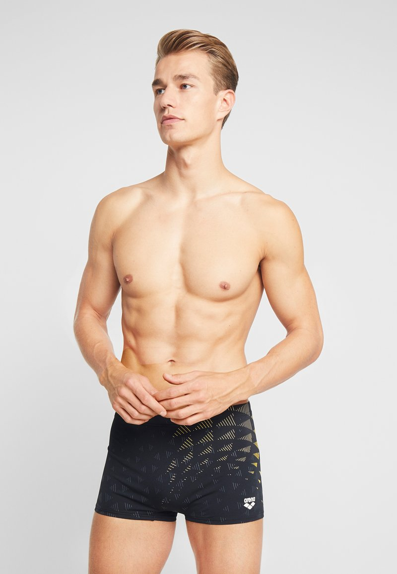 Arena - ONE TUNNEL VISION - Swimming trunks - black/yellow