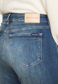 Calvin Klein Jeans Plus - HIGH RISE SKINNY ANKLE - Skinny džíny - 1a4 - 5