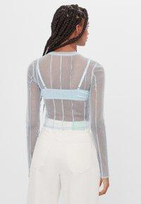 Bershka - Long sleeved top - light blue - 2