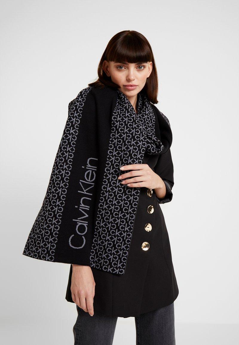 Calvin Klein - INDUSTRIAL MONO SCARF - Scarf - black