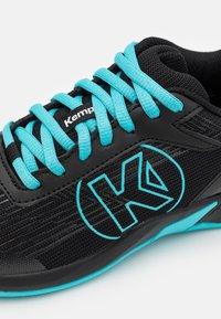 Kempa - ATTACK 2.0 JUNIOR UNISEX - Handbalschoenen - black/aqua - 5