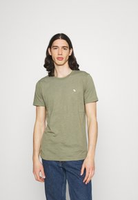 Abercrombie & Fitch - NEUTRAL CREW MULTI 5 PACK - T-shirt basic - white/yellow/green/blue/black - 3