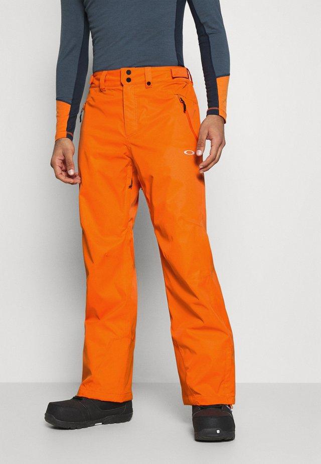 CRESCENT SHELL PANT - Ski- & snowboardbukser - bold orange