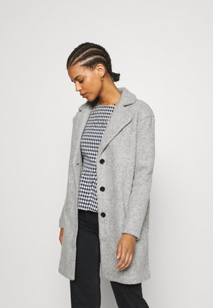 VIOLLY BUTTON COAT - Classic coat - light grey melange