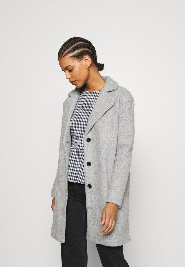 VIOLLY BUTTON COAT - Cappotto classico - light grey melange