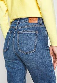 ONLY - ONLEMILY RAW ANKLE - Jeans Slim Fit - dark blue denim - 5