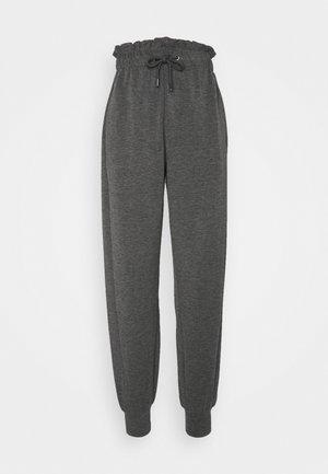 ONLPETRA PAPERBAG PANT - Trousers - dark grey melange