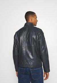 Carlo Colucci - BIKER JACKET - Leather jacket - anthra - 2