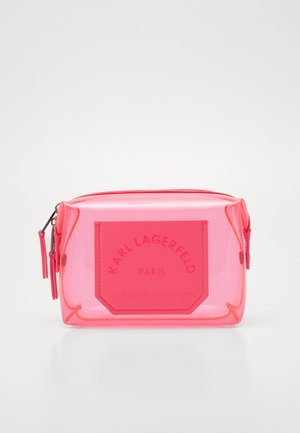 JOURNEY TRANSPARENT WASHBAG - Trousse de toilette - fuchsia