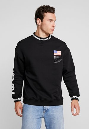 NASA OVERSIZE CREWNECK - Sweatshirt - black