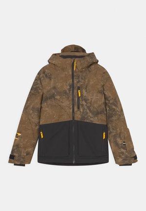 Snowboardová bunda - brown/black