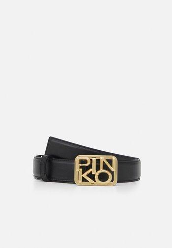 ANTHEA SIMPLY BELT SETA BRUSHED GOLD - Belt - black