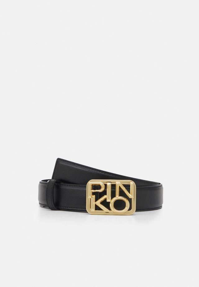 ANTHEA SIMPLY BELT SETA BRUSHED GOLD - Cintura - black