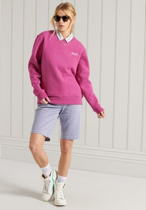 Sweater - magenta marl